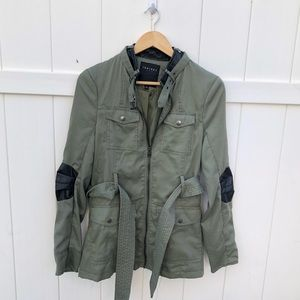 Therapy green military jacket black sz Large